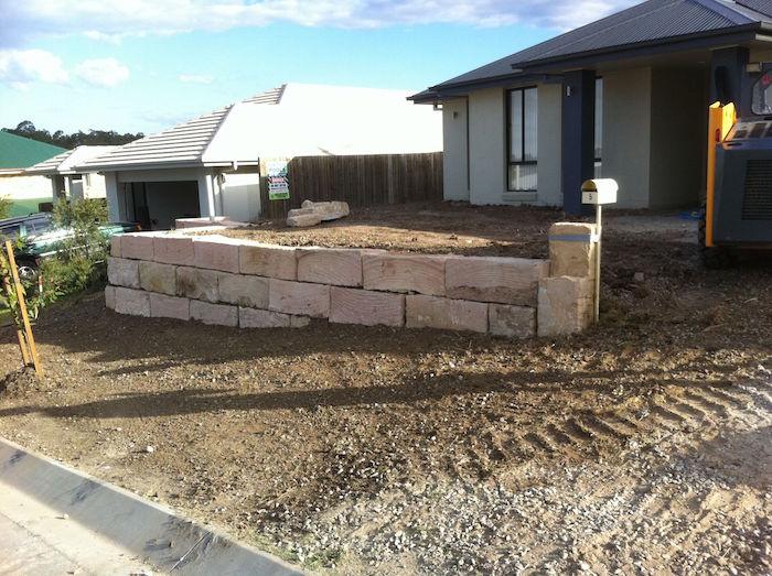 A Grade Sandstone Half Wall