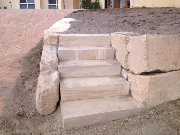 Diamond Cut Sandstone Steps