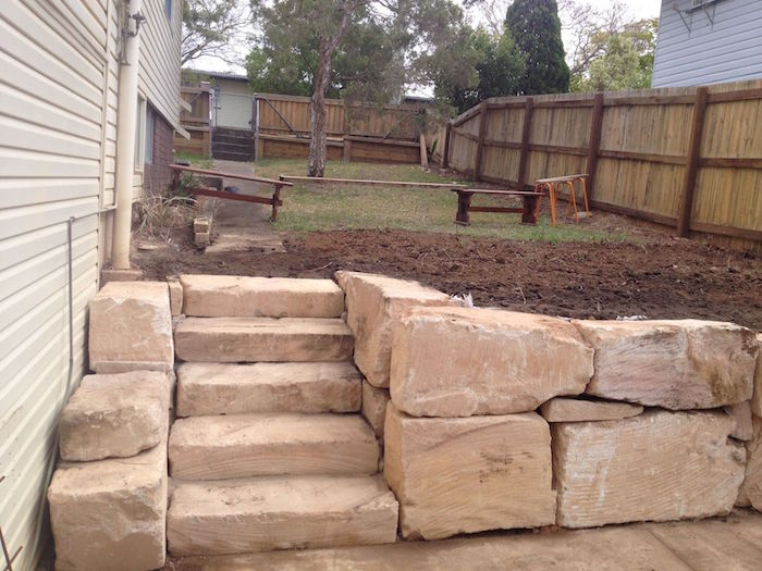 Diamond Cut Fine Grade Sandstone Steps