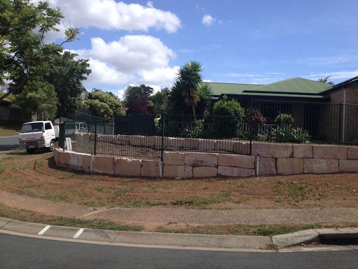 Grade B Sandstone Curved Fence