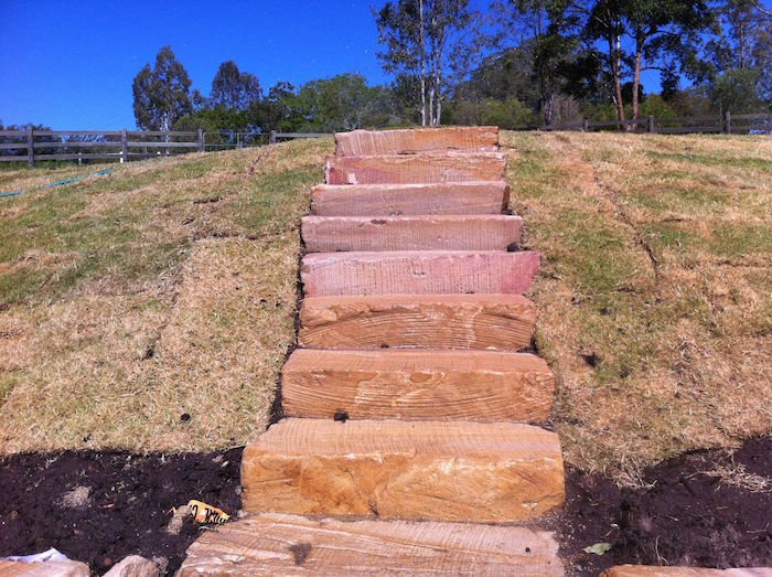Long Rough Cut Steps